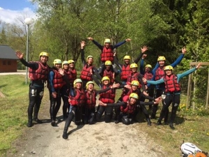 End of season staff treated to whitewater rafting on the Isere river