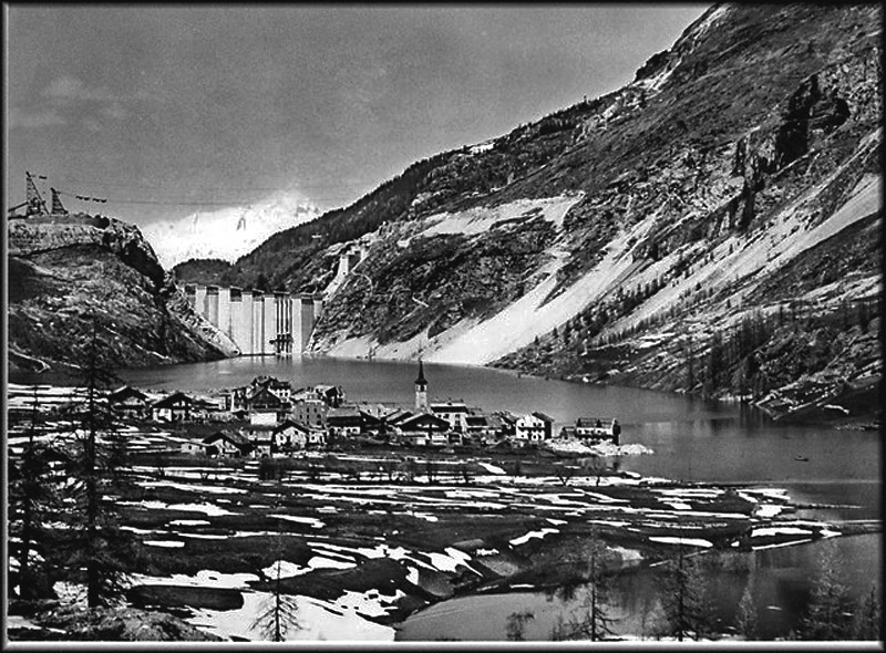tignes flooded dam 1952
