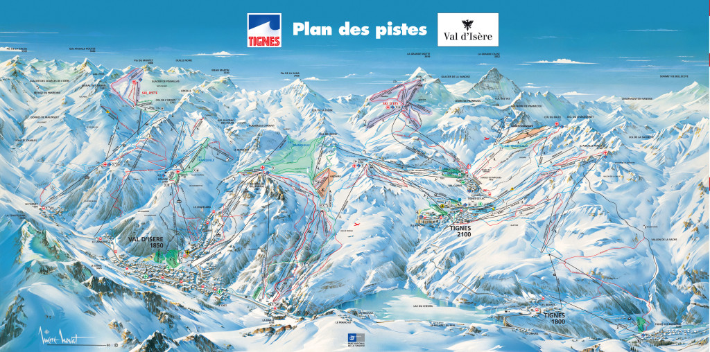 Escape Killy piste map