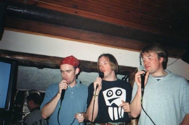 Mark Hayman and friends on a karaoke night