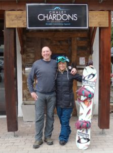 Mark Hayman meeting with ex-chalet girl and Olympic star Jenny Jones