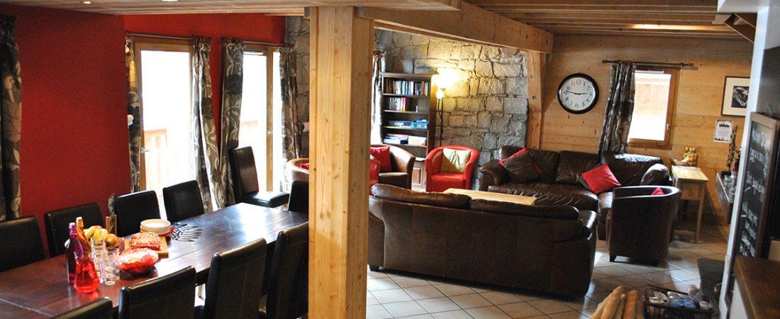 living room internal in chalet sophia tignes