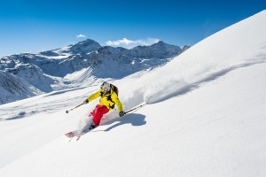 tignes skiing winter