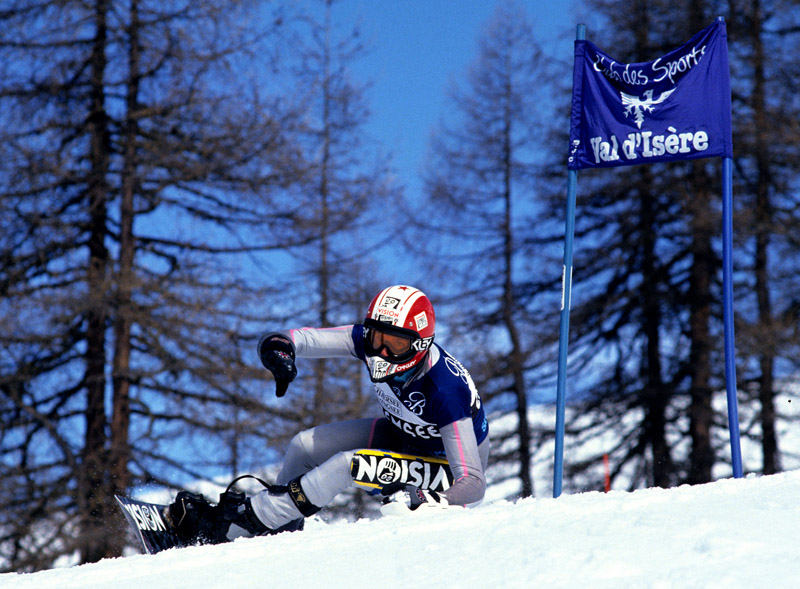 Mark Hayman racing in the 1995 World Cup